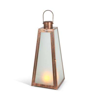 20.9 in. Copper FireGlow Lantern