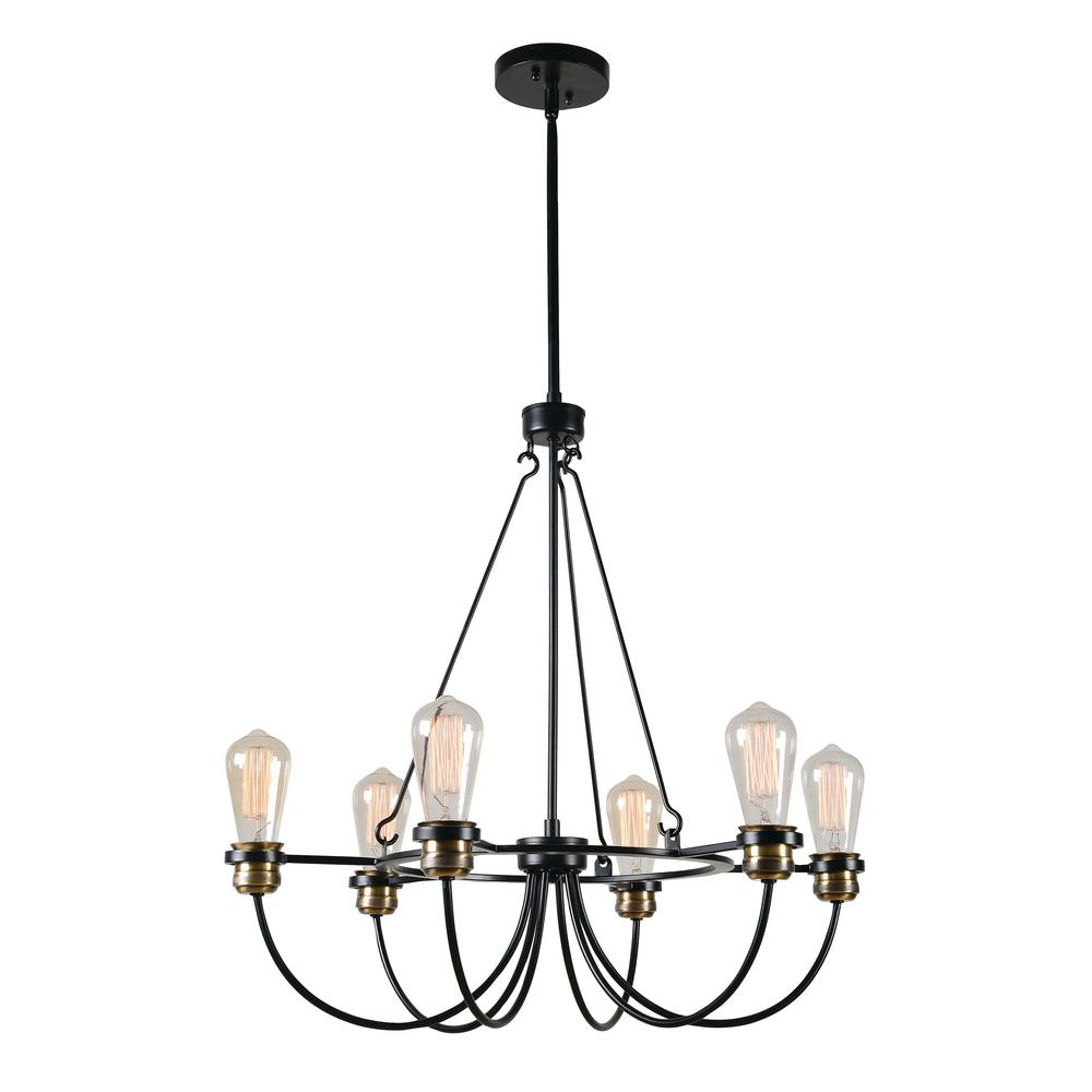 Damien 6-Light Black Chandelier