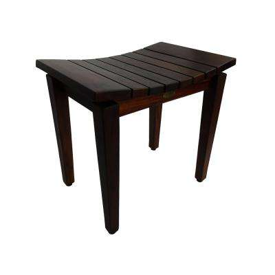 Sojourn 20 in. Contemporary Teak Eastern Style Shower Bench