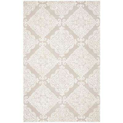 Glamour Silver/Ivory 5 ft. x 8 ft. Area Rug