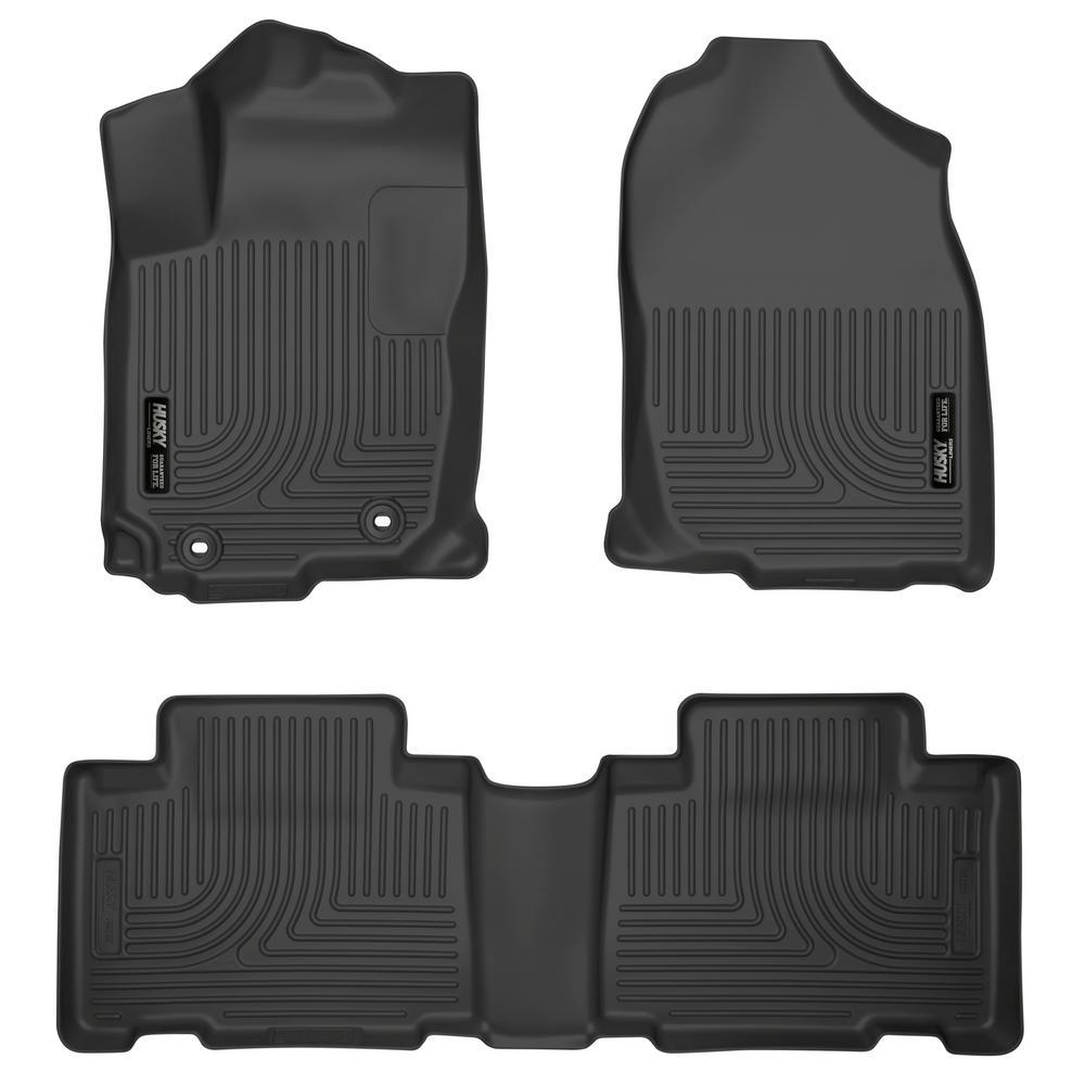 Front & 2nd Seat Floor Liners Fits 13-18 RAV4