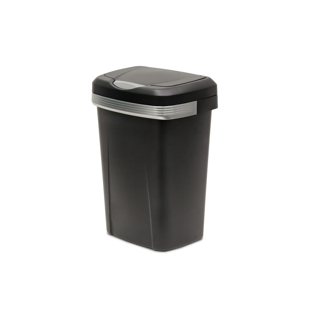 Black Premium Touch Lid Trash Can