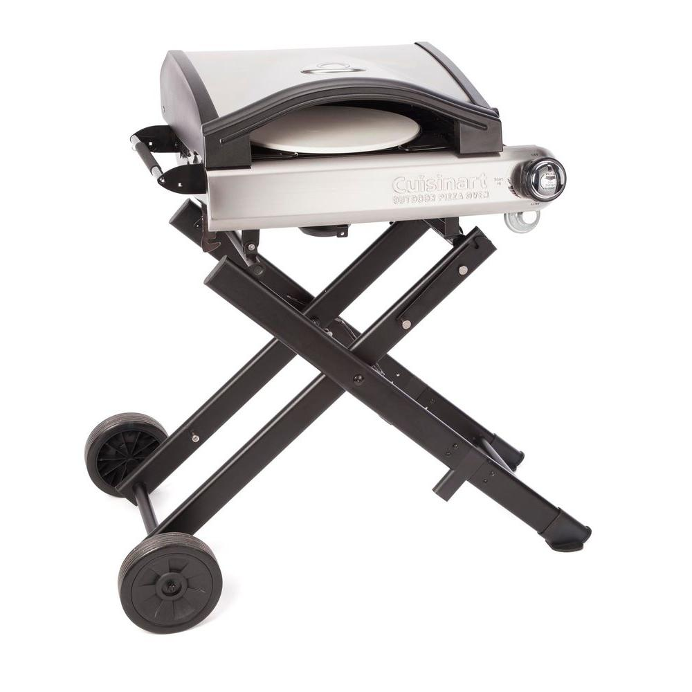 Cuisinart Alfrescamore Outdoor Pizza Oven with Stand, Stainless/Black