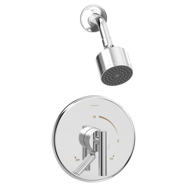 Dia Single Handle Wall-Mounted Shower Trim Kit with Volume Control in Polished Chrome - 1.5 GPM (Valve not Included)