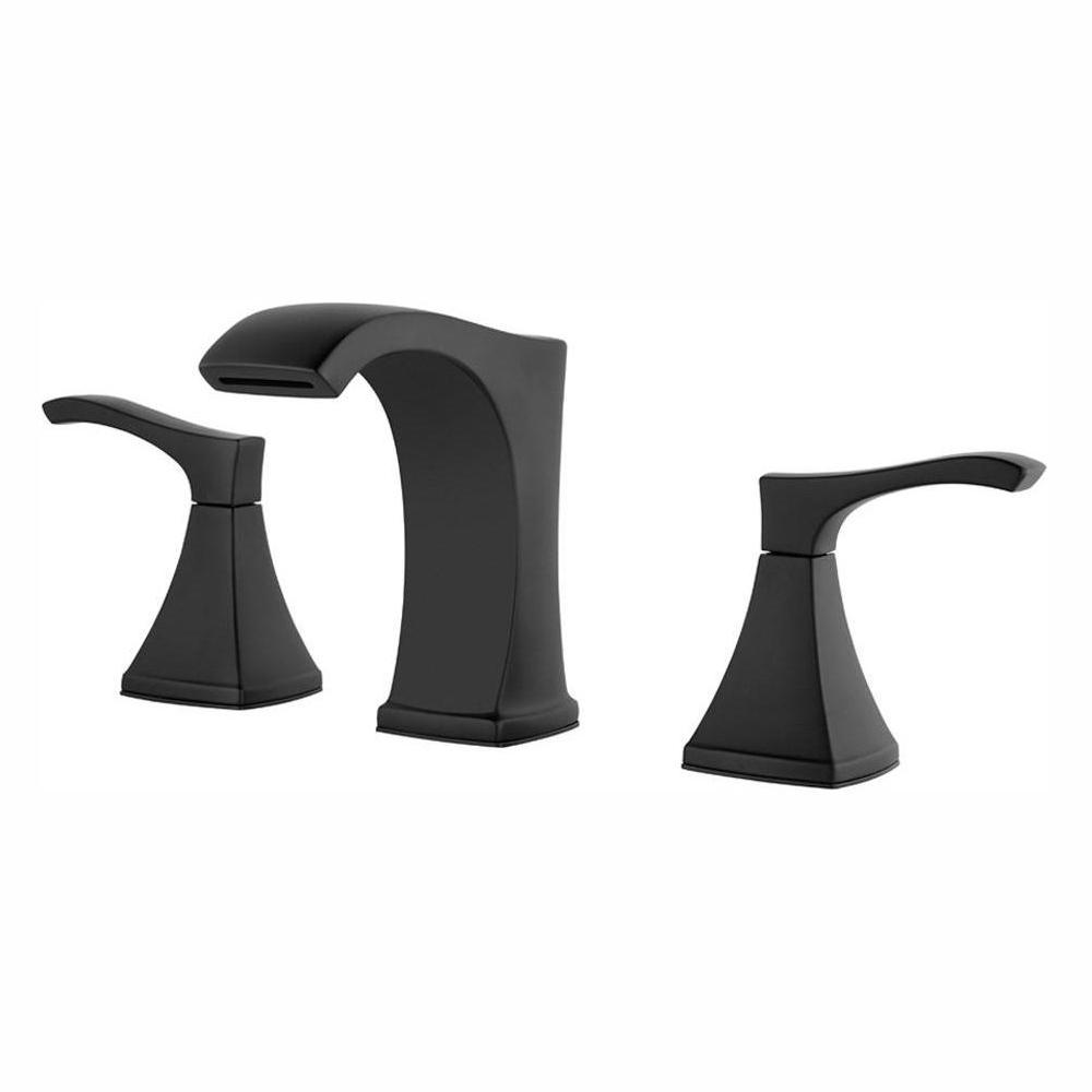 Venturi 8 in. Widespread 2-Handle Bathroom Faucet in Matte Black