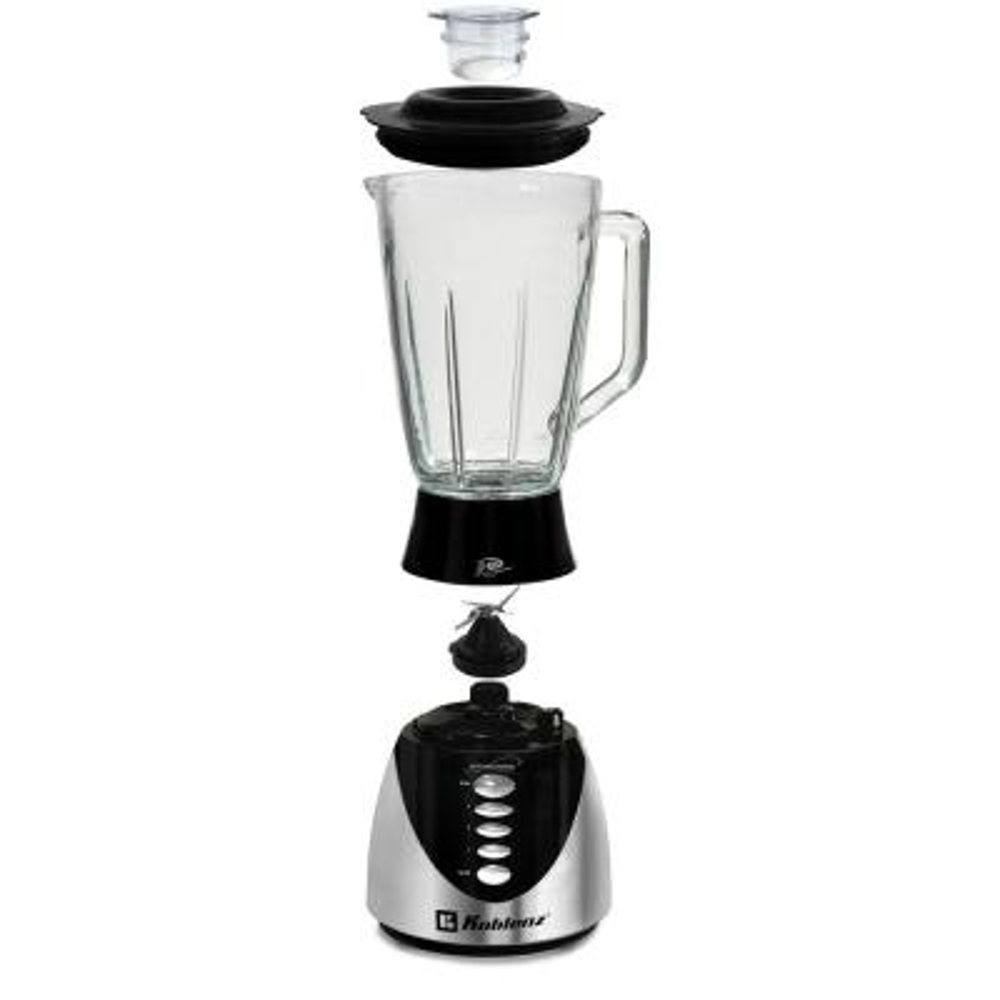 Kitchen Magic Collection 50 oz. 3-Speed and Pulse Black Glass Jar Blender