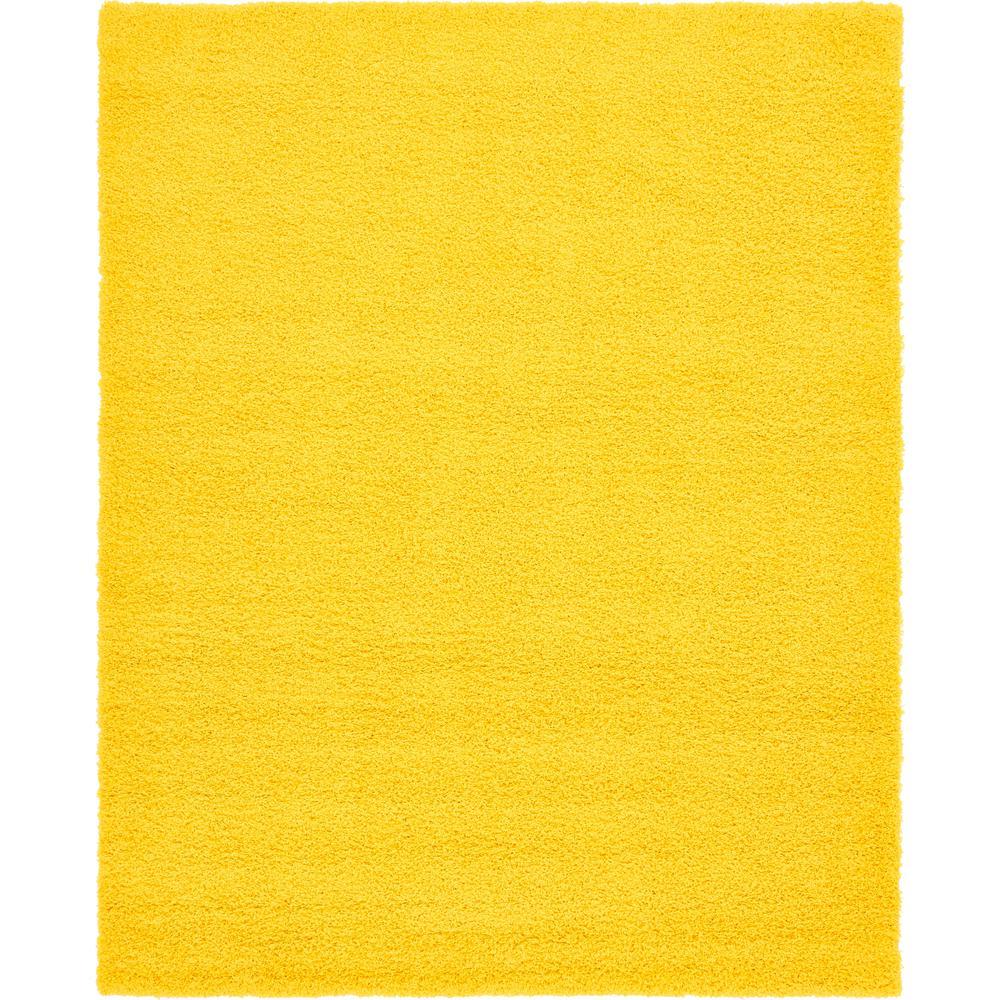 Solid Shag Tuscan Sun Yellow 8' x 10' Rug