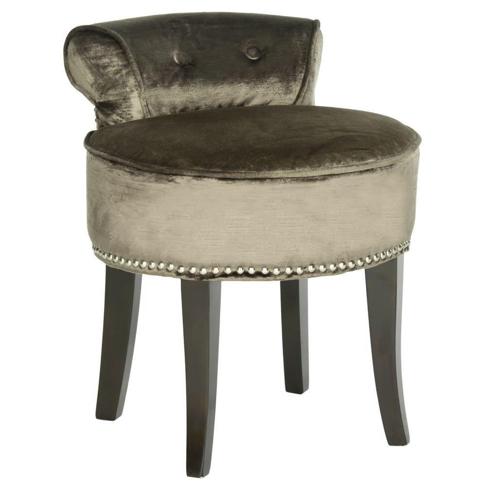 Fabulous Safavieh Georgia Mink Cotton Viscose Vanity Stool Mcr4546H Unemploymentrelief Wooden Chair Designs For Living Room Unemploymentrelieforg