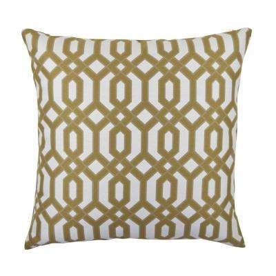 Circle Link Inspired Throw Pillow
