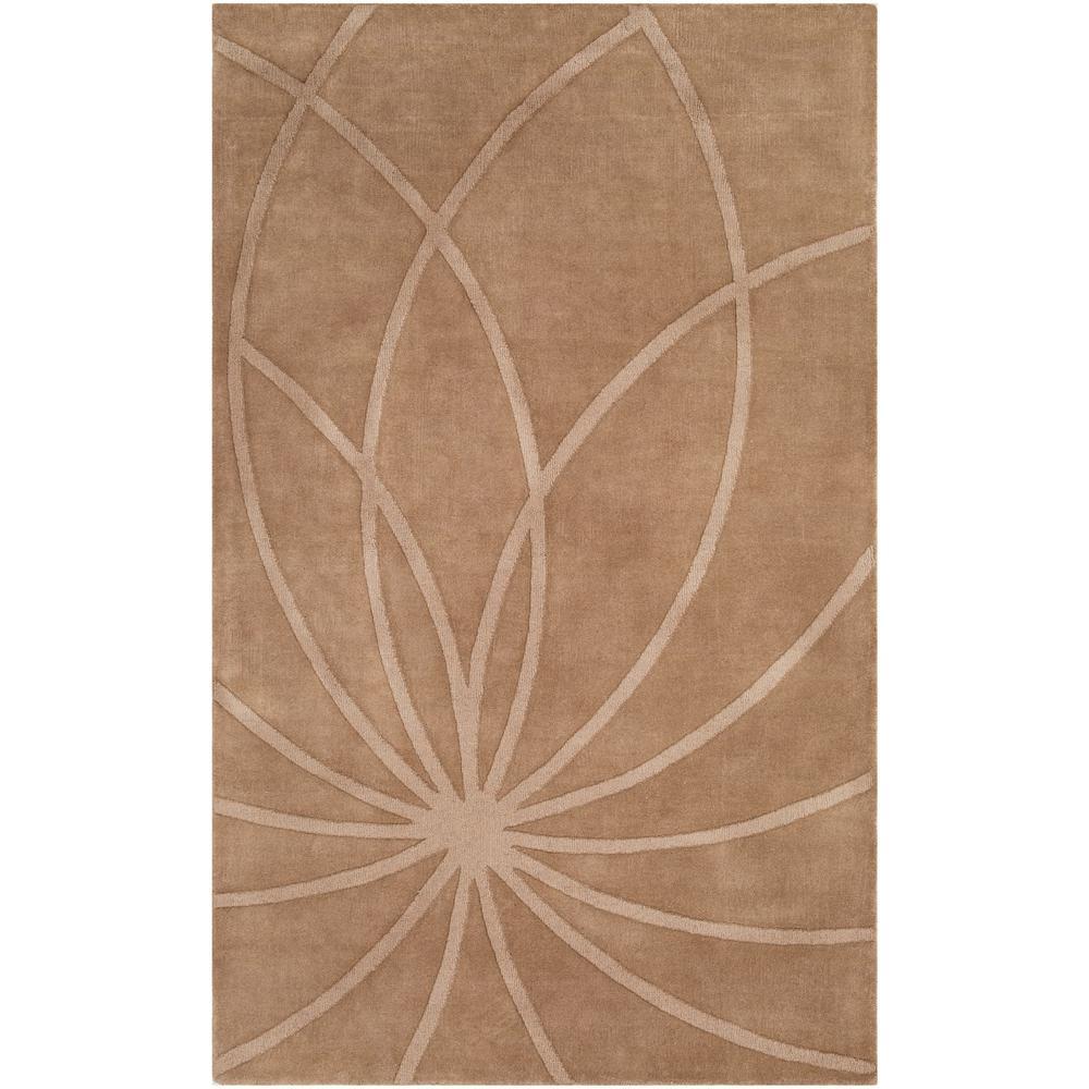Artistic Weavers Clementine Dark Brown 3 ft. 3 in. x 5 ft. 3 in. Geometric Area Rug