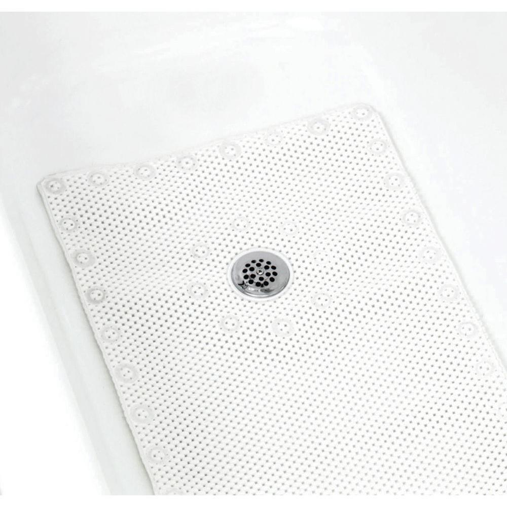 17 in. x 36 in. Foam Bath Mat in White
