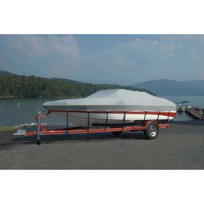 18 ft. 6 in. L x 96 in. W Outboard Boat Cover Styled-to-Fit V-Hull Runabout