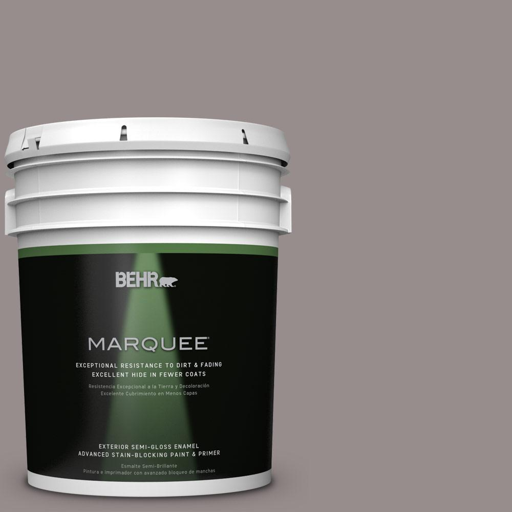 BEHR MARQUEE 5-gal. #BNC-10 Gourmet Mushroom Semi-Gloss Enamel Exterior Paint