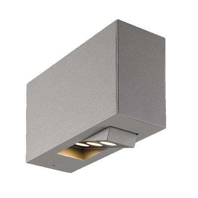 Oscar Collection 3-Light Marine Grey Outdoor LED Wall Mount