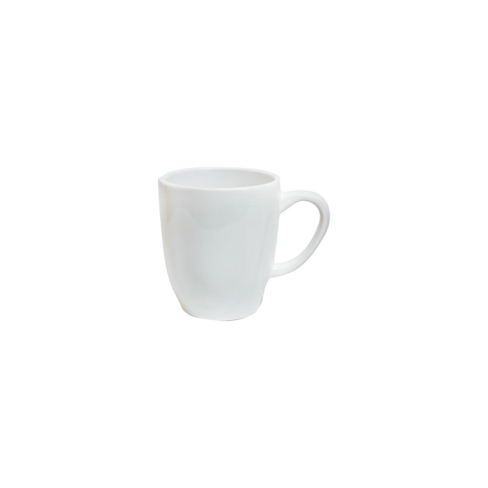 Manhattan Comfort RYO 14.20 oz. White Porcelain Mugs (Set of 6) was $69.99 now $37.7 (46.0% off)
