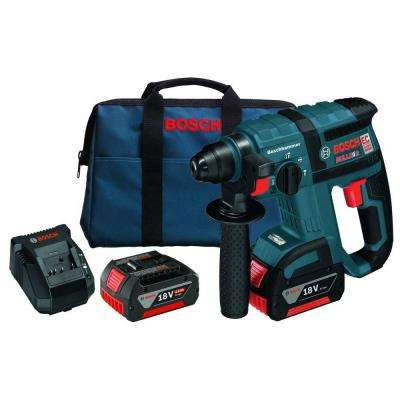 Bulldog 18 Volt Lithium-Ion Cordless 3/4 in. SDS-plus Variable Speed Brushless Rotary Hammer Kit with Chisel Function