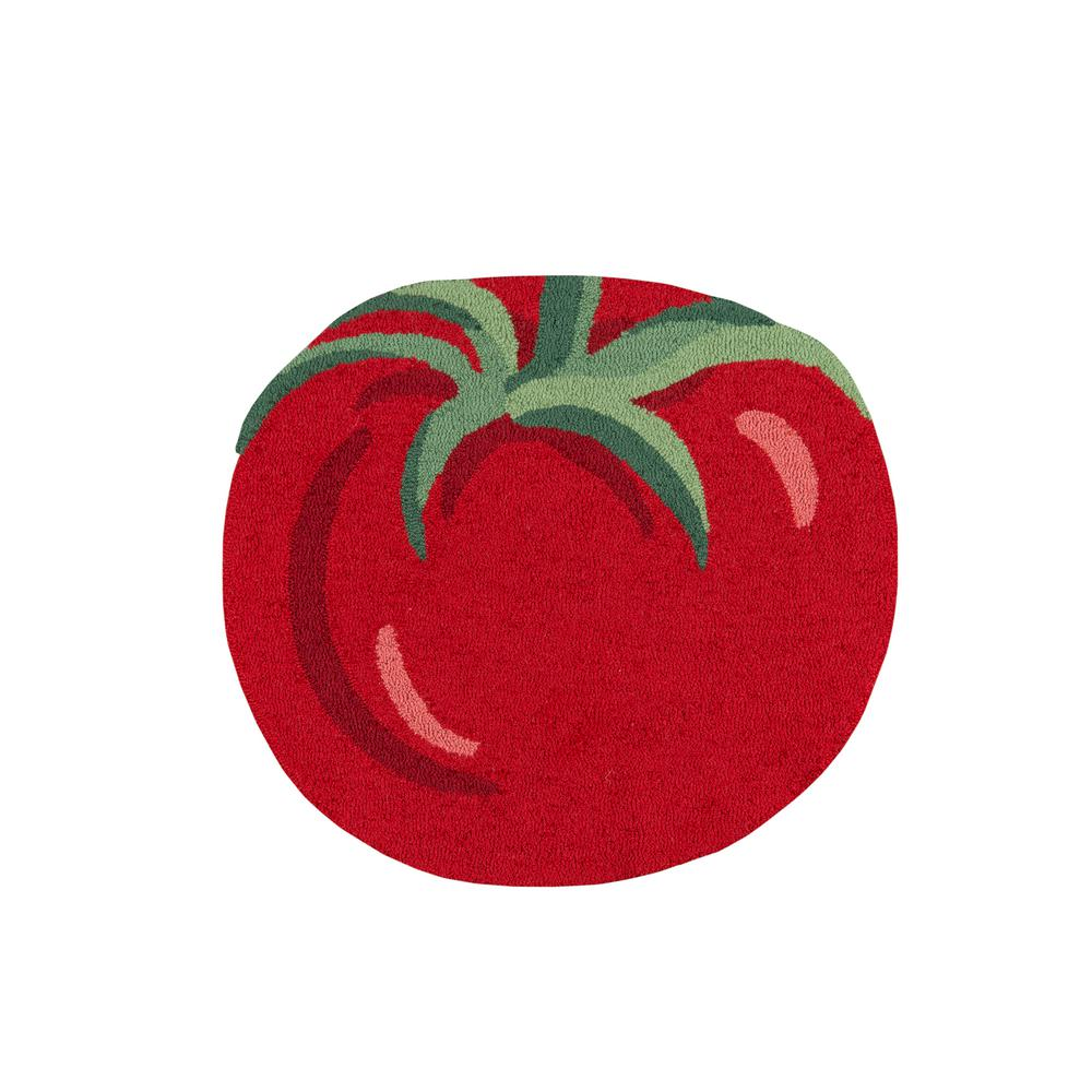 Novogratz by Momeni Cucina Tomato Red 2 ft. 6 in. x 2 ft. 9 in. Kitchen Mat