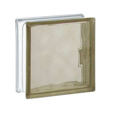 5.75 in. x 5.75 in. x 3.12 in. Bronze Wave Pattern Glass Block (10-Pack)