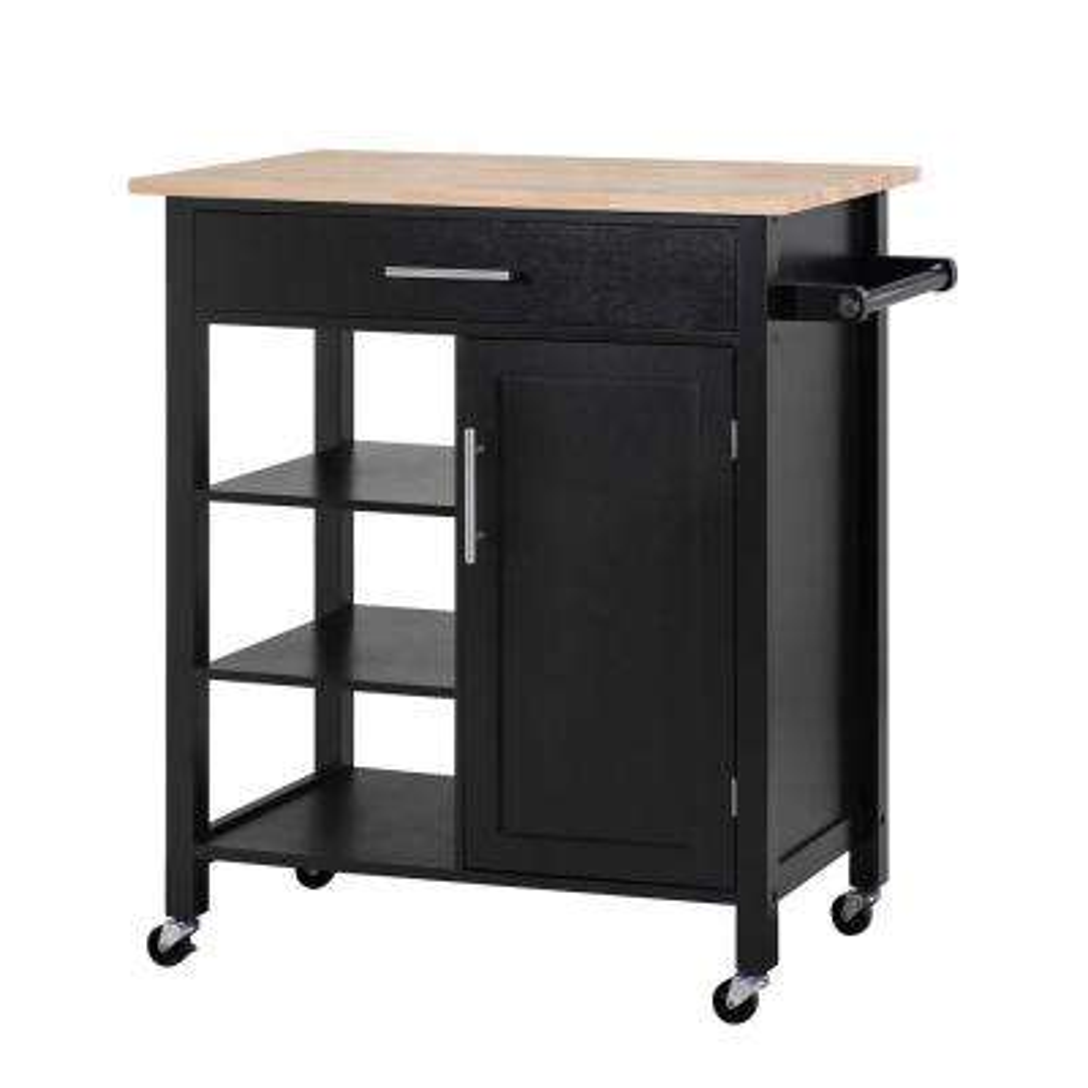 Rosemont Black Kitchen Cart