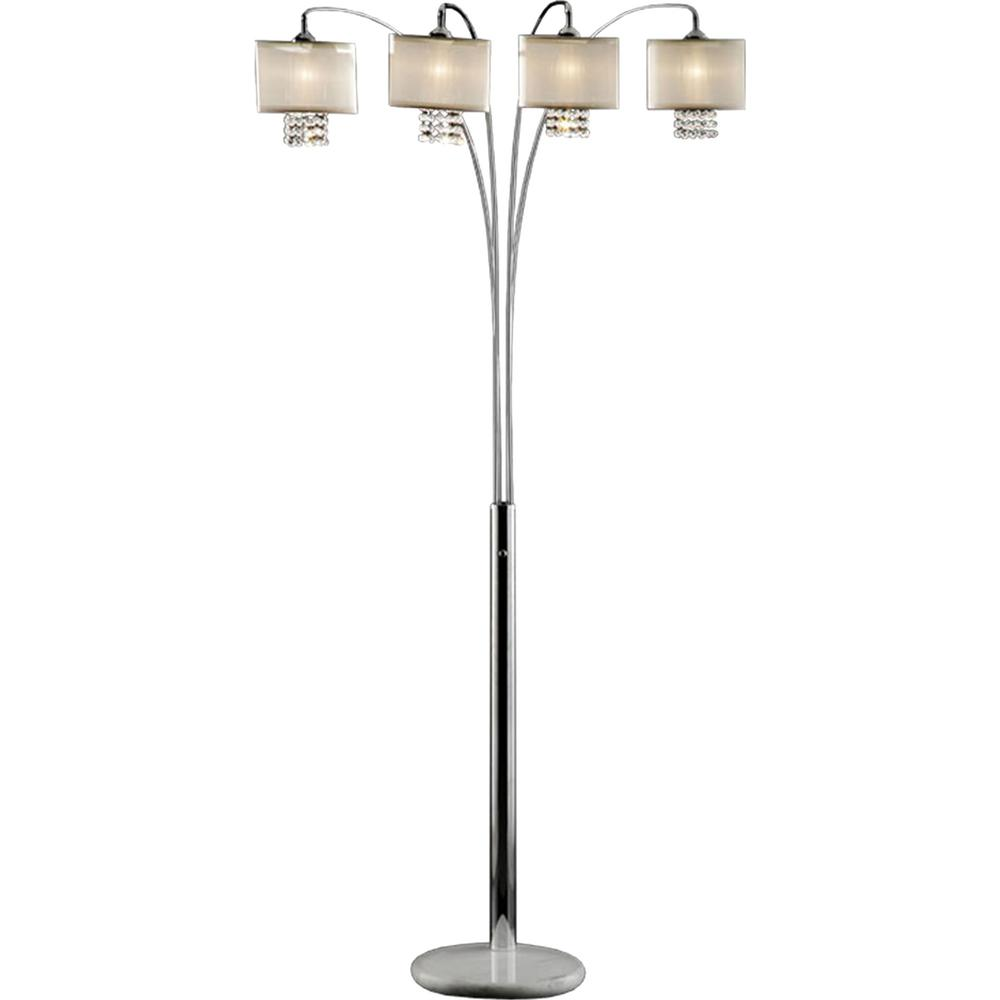 ORE International 88 in. Ivory Simple Elegance Arch Lamp