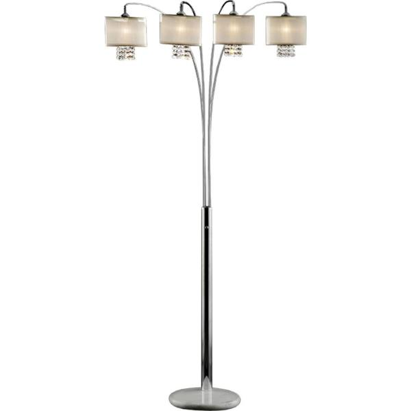 88 in. Ivory Simple Elegance Arch Lamp