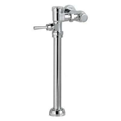 Manual FloWise 1.28 GPF Exposed Toilet Flush Valve in Polished Chrome for 1.5 in. Top Spud Bowls