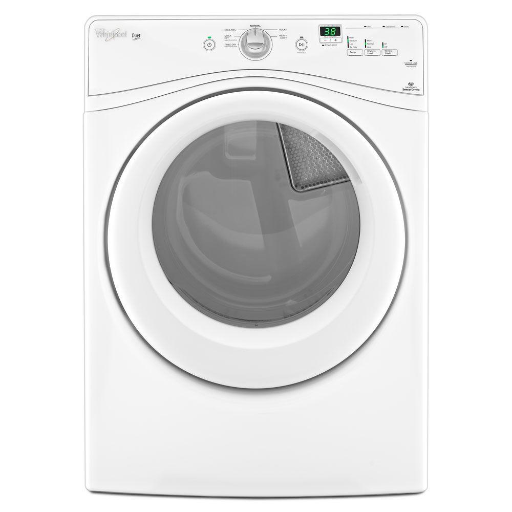 Whirlpool Duet 7.4 cu. ft. Gas Dryer in White-DISCONTINUED
