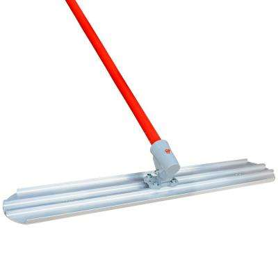 48 in. x 8 in. Round End Bull Float Magnesium Blade and 18 ft. Handle Concrete Screed Finishing Tool