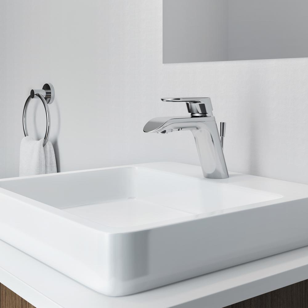 i1 Single Hole Single-Handle Bathroom Faucet in Chrome