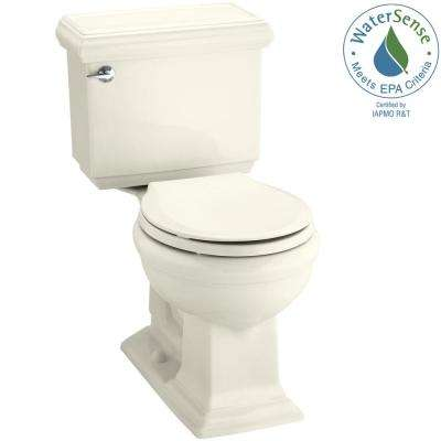 Memoirs Classic 2-piece 1.28 GPF Single Flush Round Toilet with AquaPiston Flushing Technology in Biscuit