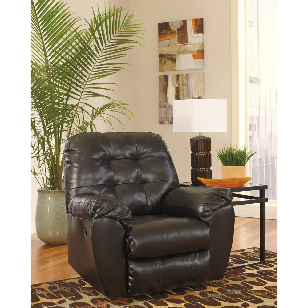 Signature Design by Ashley Alliston Chocolate DuraBlend Rocker Recliner
