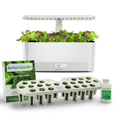 AeroGarden White Harvest Slim with Seed Starting System Bundle