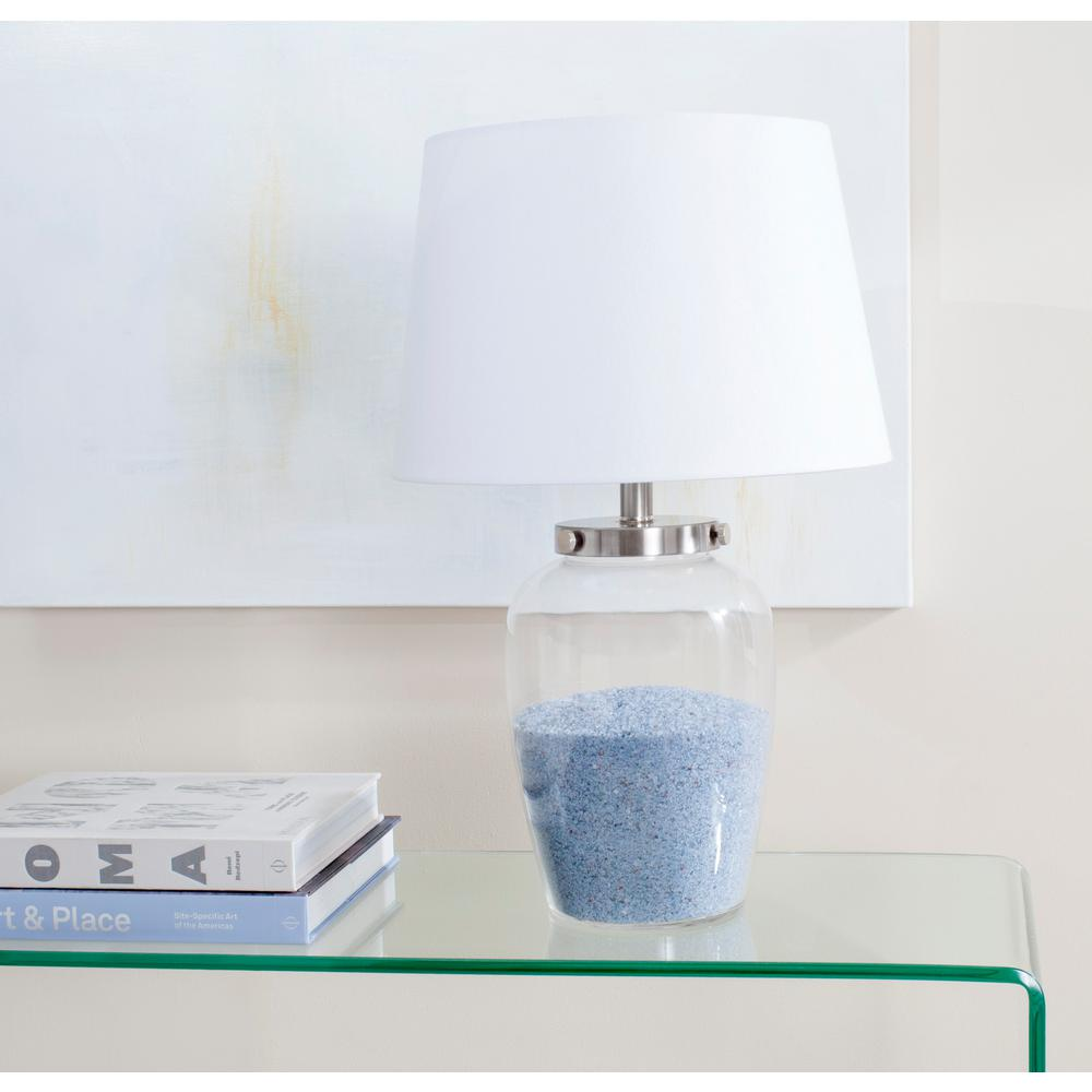 Safavieh evan 225 in clear fillable glass table lamp lit4066a clear fillable glass table lamp aloadofball Image collections