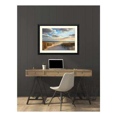 44 in. W x 32 in. H 'Sunset Beach' by Daniel Pollera Printed Framed Wall Art