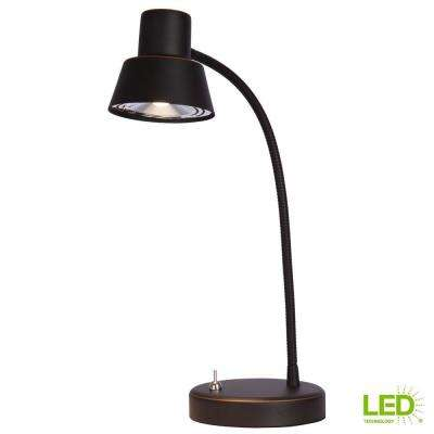 14 in. Oil Rubbed Bronze Integrated LED Desk Lamp