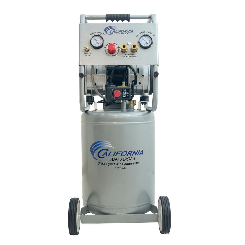 10 Gal. 2.0 HP Ultra Quiet and Oil-Free 220-Volt Electric Air