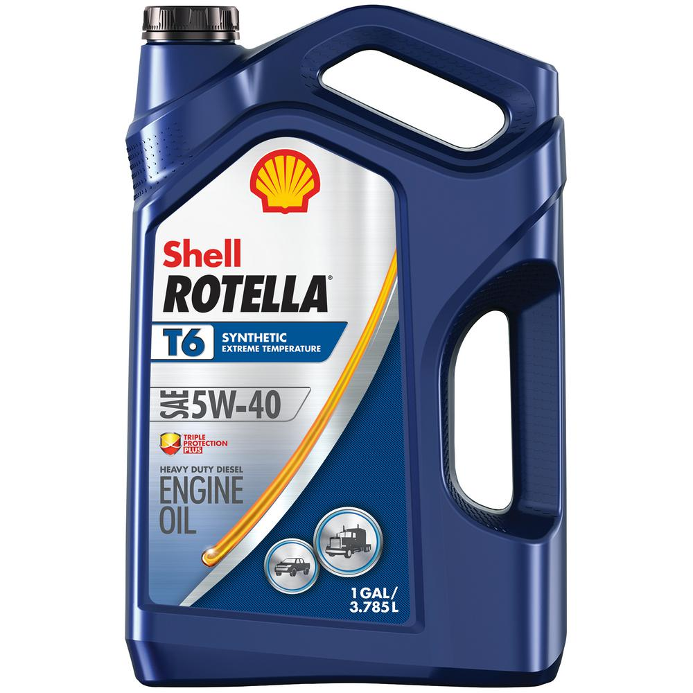 Shell rotella rotella t6 full synthetic 5w 40 diesel motor for Shell rotella t6 5w 40 diesel motor oil