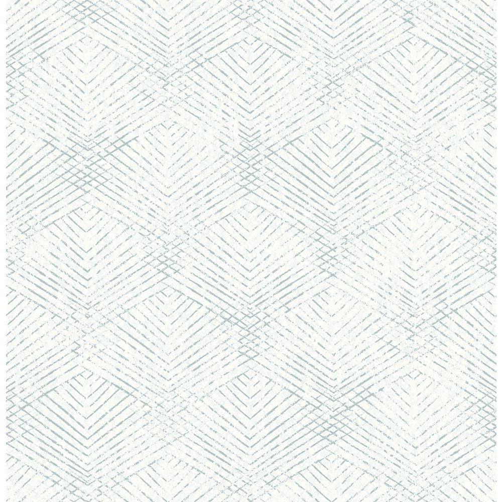 Tangent Teal Geometric Wallpaper