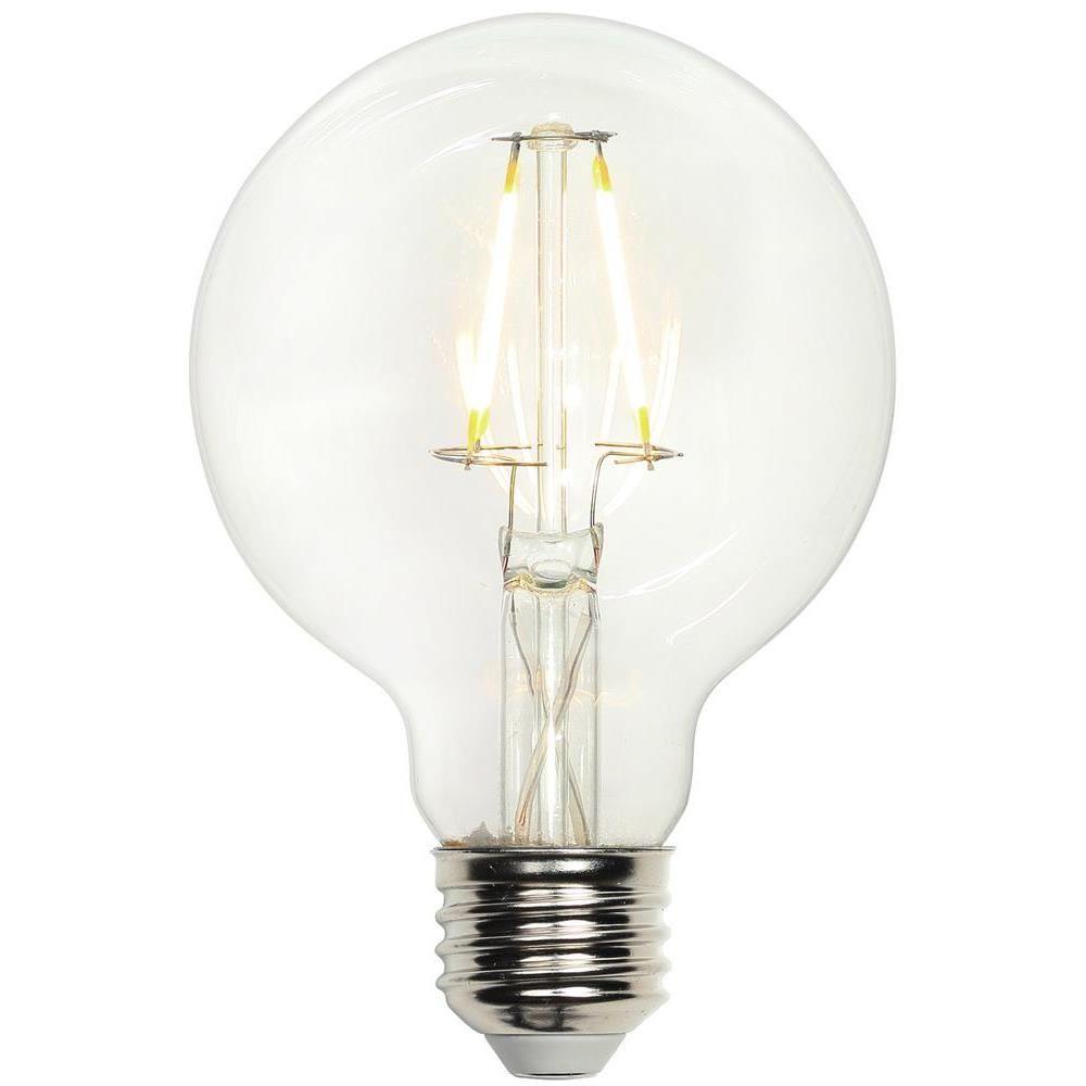 40W Equivalent Soft White (2,700K) G25 Globe Medium Base Dimmable Filament LED Light Bulb