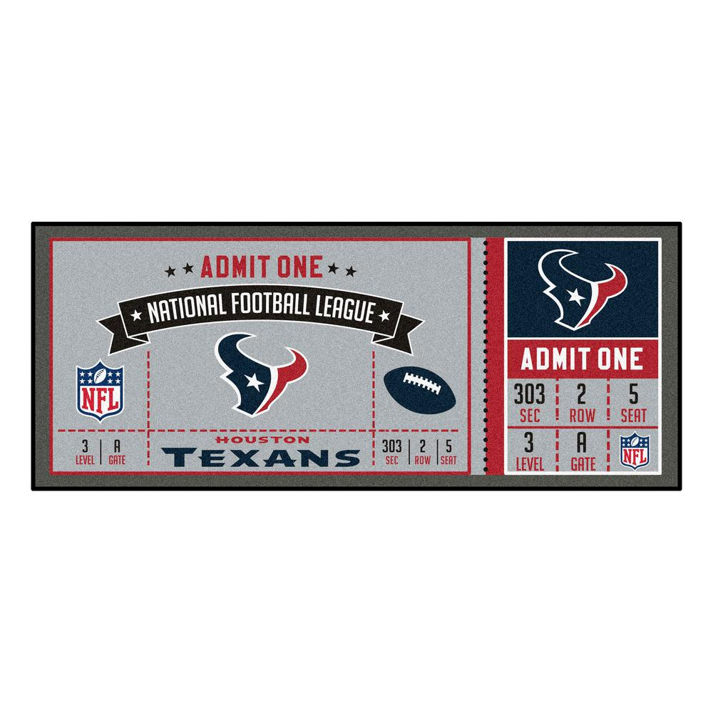 a6879dbe FANMATS NFL - Houston Texans 30 in. x 72 in. Indoor Ticket Runner Rug
