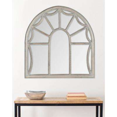 Palladian 33 in. x 32 in. Mango Wood Framed Mirror