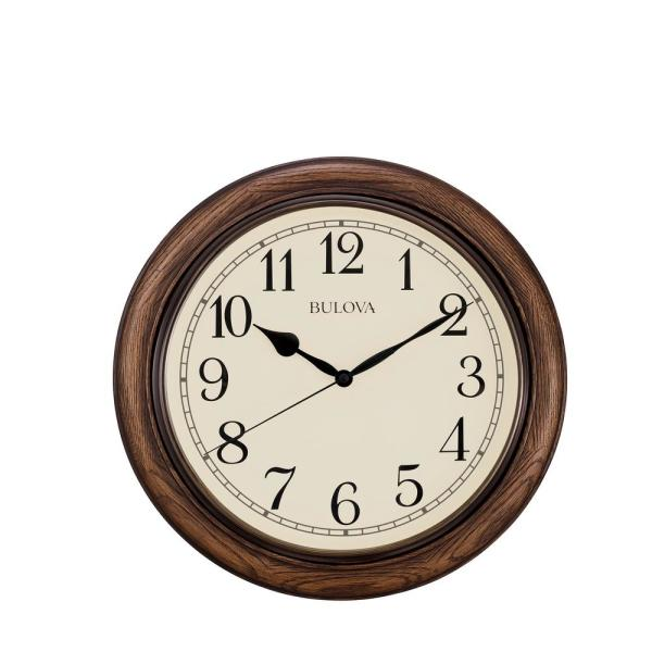 Bulova 16 in. H x 16 in. W Wall Clock with