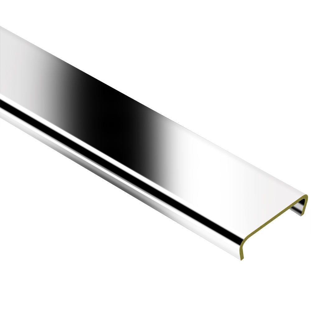 Schluter designline chrome plated solid brass 1 4 in x 8 ft 2 1 2 in metal border tile edging - Decorative chrome plating ...