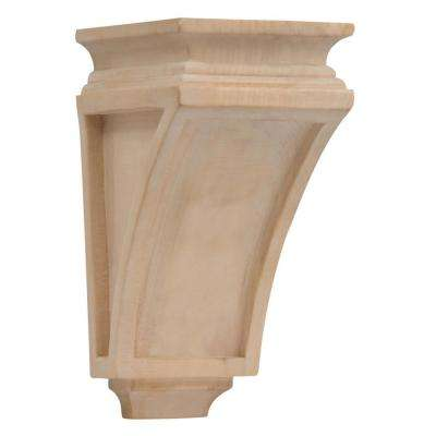 5-3/4 in. x 4-3/4 in. x 9-1/2 in. Medium Arts and Crafts Wood Corbel