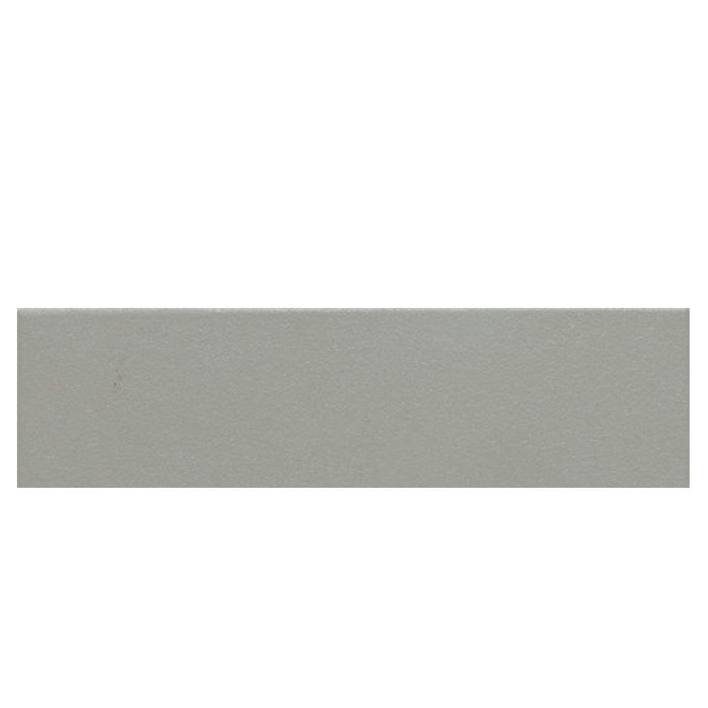 Daltile Colour Scheme Desert Gray Solid 3 in. x 12 in. Porcelain Bullnose Trim Floor and Wall Tile