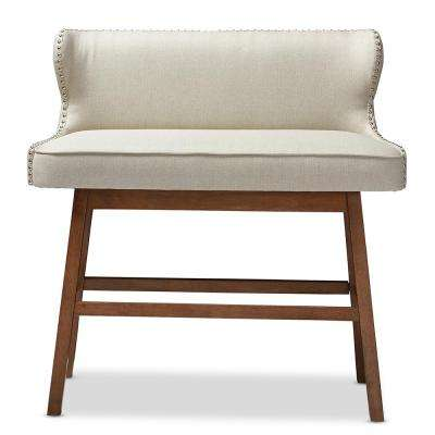 Gradisca Beige Fabric Upholstered Bar Bench