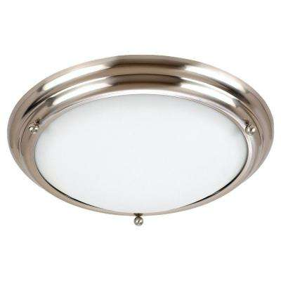 Centra 3-Light Brushed Stainless Flushmount with LED Bulbs  sc 1 st  The Home Depot & Sea Gull Lighting - Flushmount Lights - Lighting - The Home Depot azcodes.com