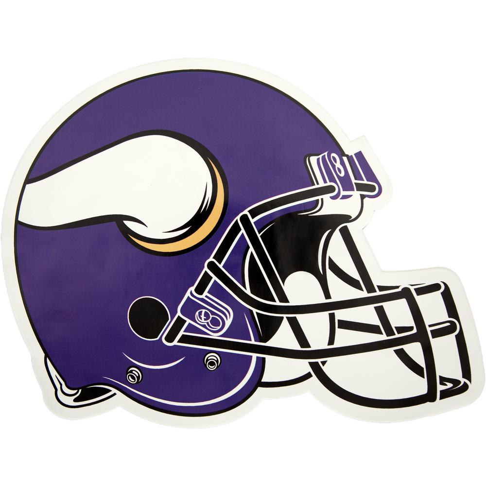 68a14d9ff Applied Icon NFL Minnesota Vikings Outdoor Helmet Graphic- Large-NFOH1903 -  The Home Depot
