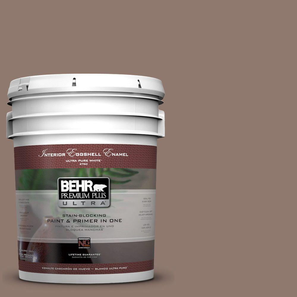 BEHR Premium Plus Ultra 5-gal. #N170-5 Chocolate Heart Eggshell Enamel Interior Paint