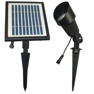 Solar Goes Green Solar Powered Black Outdoor Spot Light with Warm White LEDs by Solar Goes Green